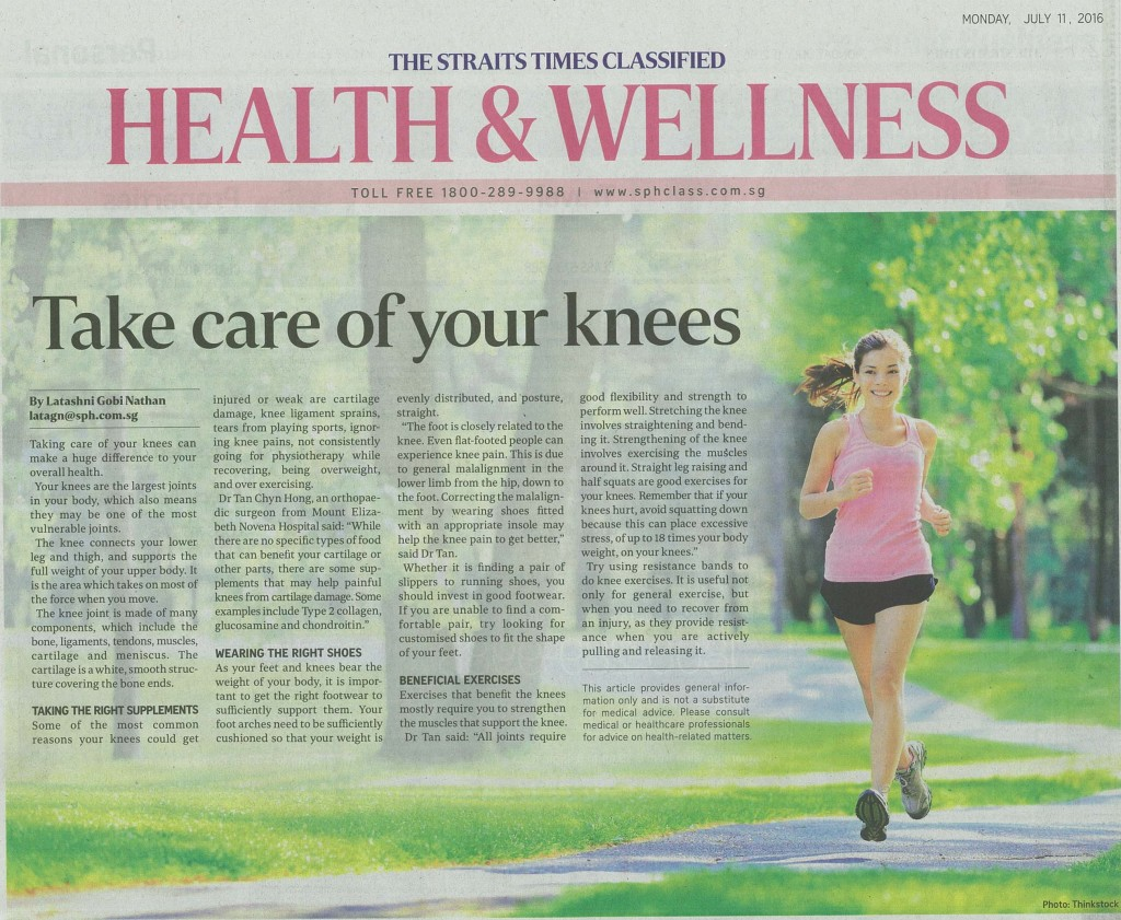 Healthy knees tips on The Straits Times